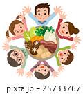 家族 笑顔 寄せ鍋のイラスト 25733767