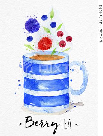 Teacup berry teaのイラスト素材 [25734061] - PIXTA