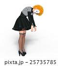 ピエロメイクアップの女性 25735785
