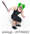ピエロメイクアップの男性 25736022