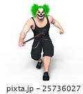 ピエロメイクアップの男性 25736027