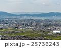 三上山から俯瞰する湖南の平野と市街地 25736243