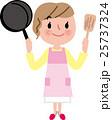 ママ 女性 料理のイラスト 25737324