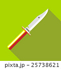 Knife icon, flat style 25738621