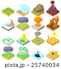 Natural disaster icons set, isometric 3d style 25740034