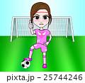 女子サッカー 25744246