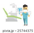 歯科医院【フラット人間・シリーズ】 25744375