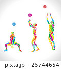 Vector volleyball silhouettes rainbow collection 25744654