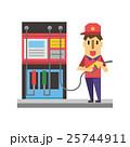 ガソリンスタンド【フラット人間・シリーズ】 25744911