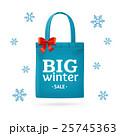 Winter Big Sale Fabric Cloth Bag Tote. Vector 25745363