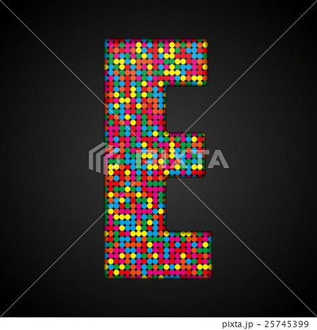 Colorful sequins sings. Sequins alphabet. Eps 10. のイラスト素材 [25745399] - PIXTA