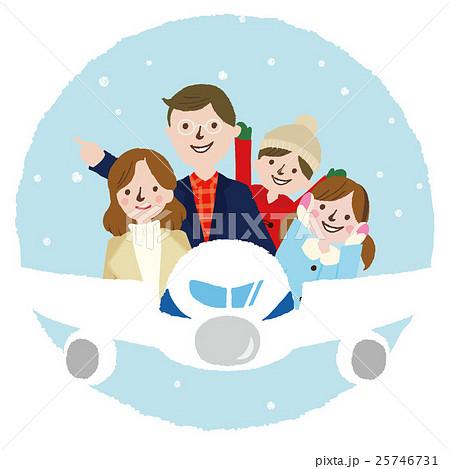 家族 冬の旅行 25746731