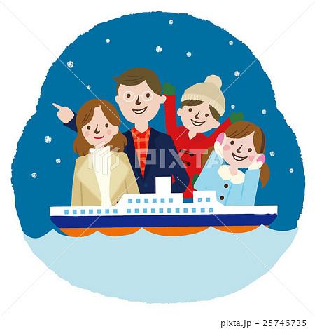 家族 冬の旅行 25746735