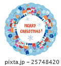 Christmas and New year greeting card 25748420
