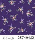 花 花柄 テキスタイルのイラスト 25749482