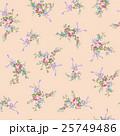 花 花柄 テキスタイルのイラスト 25749486