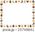 クリスマス クッキー フレームのイラスト 25749641