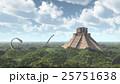 恐竜 絶滅した 荒地のイラスト 25751638