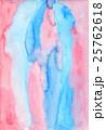 水彩テクスチャーで手描きの背景でピンク色ブルー色の抽象的バックグラウンド 25762618