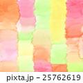 抽象的で手描き水彩のオレンジ色ピンク色黄色ライトグリーンの背景テクスチャー 25762619