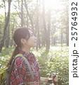 女性 トレッキング ハイキングの写真 25764932