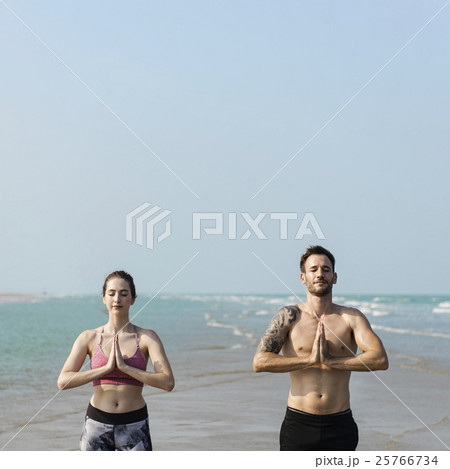 Yoga Meditation Concentration Peaceful Serene Relaxation Concept 25766734