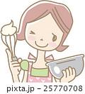 お菓子をつくる若い女性 25770708