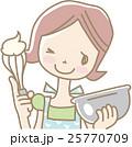 お菓子をつくる若い女性 25770709