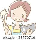 お菓子をつくる若い女性 25770710