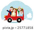 家族 冬 ベクターのイラスト 25771858