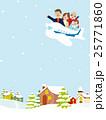 家族旅行 飛行機 冬の街並み 25771860