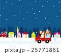 家族 冬 ベクターのイラスト 25771861