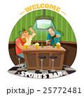 飲み物 サッカー パブのイラスト 25772481