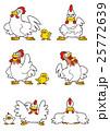 ニワトリ(鶏)キャラクター 25772639