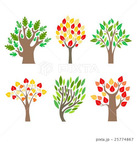 Cartoon Trees Set. Vectorのイラスト素材 [25774867] - PIXTA
