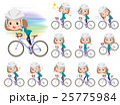 Bob hair green wear women ride on rode bicycle 25775984