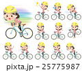 Pink wear Middle woman ride on rode bicycle 25775987