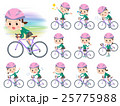 school girl Green Blazer ride on rode bicycle 25775988