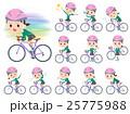 school girl Green Blazer ride on rode bicycle 25775988