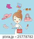 Woman doing online shopping 25778782