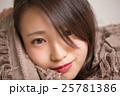 女性 顔 アップの写真 25781386