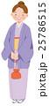 女性 着物 正月のイラスト 25786515