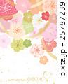 桜 年賀状 酉年のイラスト 25787239