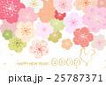 桜 年賀状 酉年のイラスト 25787371