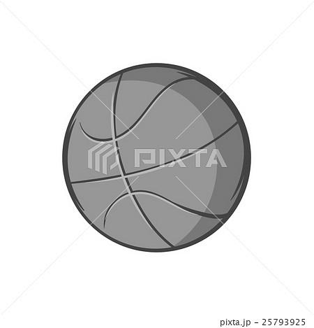 Basketball ball icon, black monochrome styleのイラスト素材 [25793925] - PIXTA