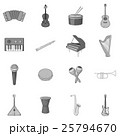 Musical instruments icons set 25794670