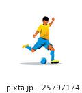 サッカー フットボール 蹴球のイラスト 25797174