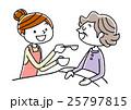 シニア女性の食事を手伝う若い女性 25797815