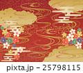 和柄 背景 桜のイラスト 25798115