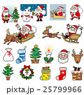 クリスマス サンタ サンタクロースのイラスト 25799966